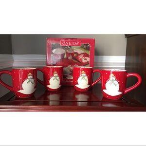 ONEIDA Snowmates Mugs - Set of 4